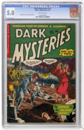 Golden Age (1938-1955):Horror, Dark Mysteries #12 (Master Publications, 1953) CGC VG/FN 5.0Off-white pages....