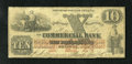 Obsoletes By State:Rhode Island, Newport, RI- New England Commercial Bank $10 Aug. 1, 1861. This counterfeit has healthy paper and edges for the grade. Ver...