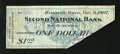 Obsoletes By State:Ohio, Hamilton, OH- Second National Bank $1 Nov. 9, 1907. This is onlythe third time that we have encountered 1907 Panic Scrip on...