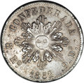 Argentina: , Argentina: Cordoba 8 Reales 1852, KM32, choice lustrous XF-AU,lightly toned and very attractive for this crudely producedtype....
