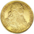 Colombia: , Colombia: Ferdinand VII gold 8 Escudos 1811/0-JF-NR, KM66.1, XF40PCGS, lightly toned with evenly worn surfaces and a boldoverdate....