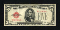 Fr. 1525 $5 1928 Legal Tender Note. Very Fine. A moderately circulated example from this first red seal issue that is we...