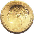 Australia: , Australia: Victoria gold Sovereign 1879S, KM7, AU58 NGC, a lustrousexample with typical small bagmarks but very little actual wear.Ve...