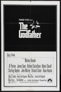 "Movie Posters:Crime, The Godfather (Paramount, 1972). One Sheet (27"" X 41""). Crime.Starring Marlon Brando, Al Pacino, James Caan, Robert Duvall ..."