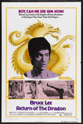"Movie Posters:Action, Return of the Dragon (Bryanston, 1974). One Sheet (27"" X 41""). Martial Arts Action. Starring Bruce Lee, Nora Miao and Chuck ..."