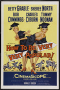"""Movie Posters:Comedy, How to Be Very, Very Popular (20th Century Fox, 1955). One Sheet (27"""" X 41""""). Comedy. Starring Betty Grable, Sheree North, B..."""