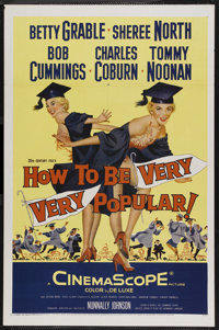 """How to Be Very, Very Popular (20th Century Fox, 1955). One Sheet (27"""" X 41""""). Comedy. Starring Betty Grable, S..."""