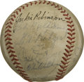 Autographs:Baseballs, 1953 Brooklyn Dodgers Team Signed Baseball (Robinson). Led mymanager Chuck Dressen, the Ebbets Field regulars won the Nati...