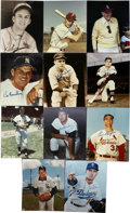 """Autographs:Photos, Baseball Stars Single Signed Photographs Lot of 11. A nice mix of8x10"""" photographs signed by former stars of the great gam..."""