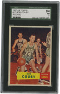 Basketball Cards:Singles (Pre-1970), 1957-58 Topps Bob Cousy #17 SGC 84 NM 7. Important rookie offeringof Boston's legendary Houdini of the Hardwood, Bob Cousy...