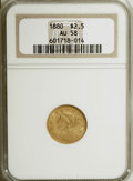 Liberty Quarter Eagles, 1880 $2 1/2 AU58 NGC....