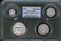 Modern Bullion Coins, 2004 SET Platinum Eagle Set MS69 PCGS.... (Total: 4 coins)