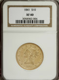 Liberty Eagles, 1841 $10 XF40 NGC....