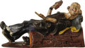 Antiques:Toys, Reclining Chinaman Mechanical Bank...