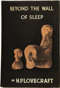 Books:First Editions, H. P. Lovecraft. Beyond the Wall of Sleep....