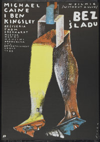 """Without a Clue (Orion, 1988). Polish One Sheet (26"""" X 37.5""""). Comedy"""