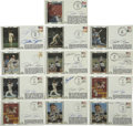 Autographs:Letters, Pete Rose Signed First Day Covers Lot of 13. Thirteen Pete Rosesigned First Day Covers commemorating great moments in his ...