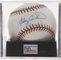 Autographs:Baseballs, Gary Carter Single Signed Baseball, PSA Mint 9. The premier catcherof his day has signed the OML orb here. Ball has been en...