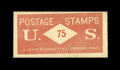 Fractional Currency:First Issue, Postage Envelope - 75¢ U.S. J. Leach About New.. ...