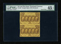 Fractional Currency:First Issue, Fr. 1281 25c First Issue Vertical Pair PMG Choice Extremely Fine 45EPQ....