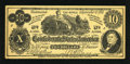 Confederate Notes:1862 Issues, Facsimile T46 $10 1862 Ad Note.. ...