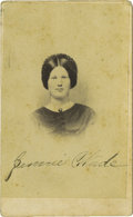 Photography:CDVs, Scarce Period Carte de Visite Bust Portrait of Jennie Wade, the Only Civilian Killed During The Battle, by Tyson B...