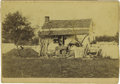 Photography:CDVs, Another Rare Tyson Brothers Image, This One of Meade's Headquarters, The Leister Farm House, Probably August 1863....