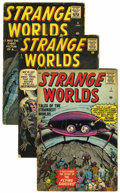 Silver Age (1956-1969):Science Fiction, Strange Worlds #1, 2 and 4 Group (Marvel, 1958-59).... (Total: 3 Comic Books)
