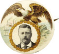 Political:Pinback Buttons (1896-present), Theodore Roosevelt: One of the Most Beautiful of 1904 Campaign Button Designs....