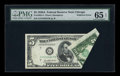 Error Notes:Foldovers, Fr. 1962-G $5 1950A Federal Reserve Note. PMG Gem Uncirculated 65EPQ.. ...