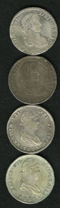 Mexico, Mexico: Group of Ferdinand VII 8 Reales from the Zacatecas Mint,...(Total: 4 coins)