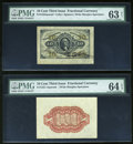 Fractional Currency:Third Issue, Fr. 1253SP 10c Third Issue Wide Margin Pair PMG Choice Uncirculated Net 63/64EPQ.... (Total: 2 notes)