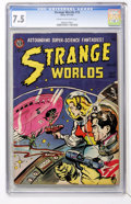 Golden Age (1938-1955):Science Fiction, Strange Worlds #18 (Avon, 1954) CGC VF- 7.5 Cream to off-whitepages....