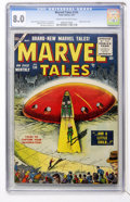 Golden Age (1938-1955):Science Fiction, Marvel Tales #134 (Atlas, 1955) CGC VF 8.0 Cream to off-whitepages....