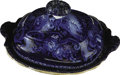 "Political:3D & Other Display (pre-1896), Historical Blue: 1820s Lidded Serving Dish in Desirable ""Peace and Plenty"" Pattern. Except for one fine crack, all but undet..."