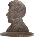 Political:3D & Other Display (pre-1896), Franklin Pierce: Rare Massive Cast Iron Doorstop....