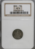 Seated Dimes: , 1846 10C VG8 NGC. NGC Census: (3/28). PCGS Population (7/57).Mintage: 31,300. Numismedia Wsl. Price for NGC/PCGS coin in V...
