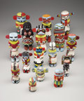 American Indian Art:Kachina Dolls, A GROUP OF HOPI COTTONWOOD KACHINA DOLLS. c. 1935-55 ... (Total: 16Items)