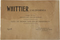Miscellaneous:Booklets, Board of Trade Booklet, Whittier, California, 1906.. ...