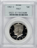 Proof Kennedy Half Dollars: , 1982-S 50C PR67 PCGS. PCGS Population (14/59). NGC Census: (0/0).Mintage: 3,857,479. Numismedia Wsl. Price for NGC/PCGS co...