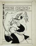Original Comic Art:Covers, Joe Musial (attributed) - King Comics #116 Wimpy Cover Original Art(David McKay, 1945)....