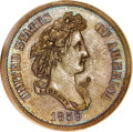 Patterns, 1859 P50C Half Dollar, Judd-240, Pollock-296, R.5--ImproperlyCleaned--NCS. AU Detail. ...