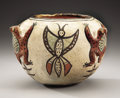 American Indian Art:Pottery, A ZUNI POLYCHROME EFFIGY JAR. c. 1885. ...