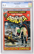 Bronze Age (1970-1979):Horror, Tomb of Dracula #1 (Marvel, 1972) CGC VF+ 8.5 White pages....