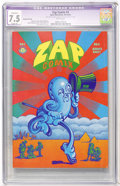 Silver Age (1956-1969):Alternative/Underground, Zap Comix #4 Second Printing (Apex Novelties, 1969) CGC ApparentVF- 7.5 Slight (P) White pages....