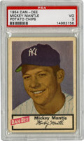Baseball Cards:Singles (1950-1959), 1954 Dan-Dee Potato Chips Mickey Mantle PSA VG 3. If not for thehorizontal crease that invades the key to the 1954 Dan-Dee...
