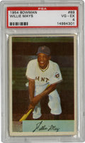 Baseball Cards:Singles (1950-1959), 1954 Bowman Willie Mays #89 PSA VG-EX 4. The Say Hey Kid's fine offering from the '54 Bowman issue stands out here to the g...