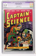 Golden Age (1938-1955):Science Fiction, Captain Science #4 (Youthful Magazines, 1951) CGC Apparent VG/FN5.0 Slight (P) Cream to off-white pages....
