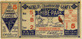 Baseball Collectibles:Tickets, 1931 World Series Game 5 Ticket Stub. Philadelphia's Shibe Parkplayed host to the game for which we offer a ticket stub he...