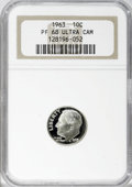Proof Roosevelt Dimes: , 1963 10C PR68 Ultra Cameo NGC. NGC Census: (441/117). PCGSPopulation (376/186). Numismedia Wsl. Price for NGC/PCGS coin i...